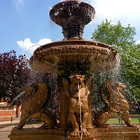 Picture of fountain at Town Hall