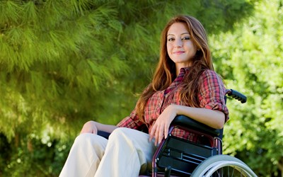 Young lady in a wheelchair