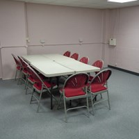 African Caribbean centre pink meeting room