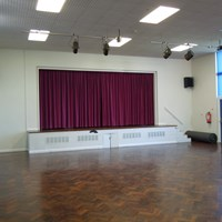 Eyres Monsell Community Centre hall and stage