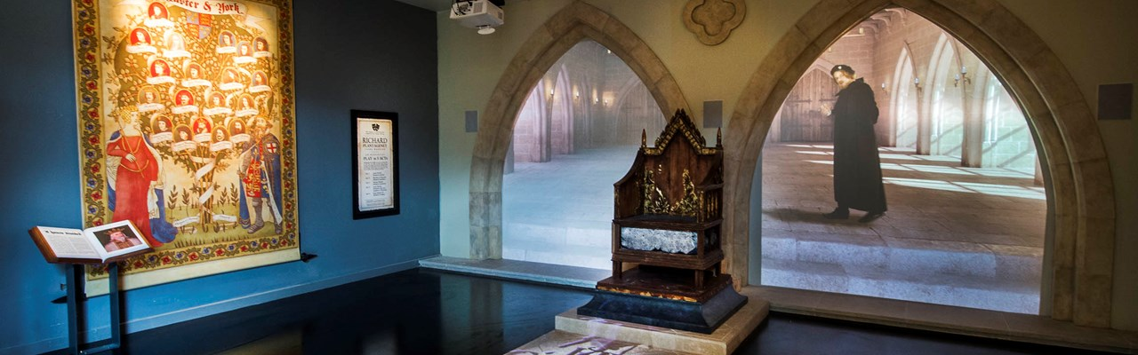 Inside the King Richard III visitor centre