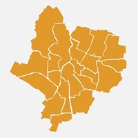 Ward map of Leicester. Housing associations
