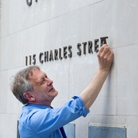 City Mayor adding City Hall lettering