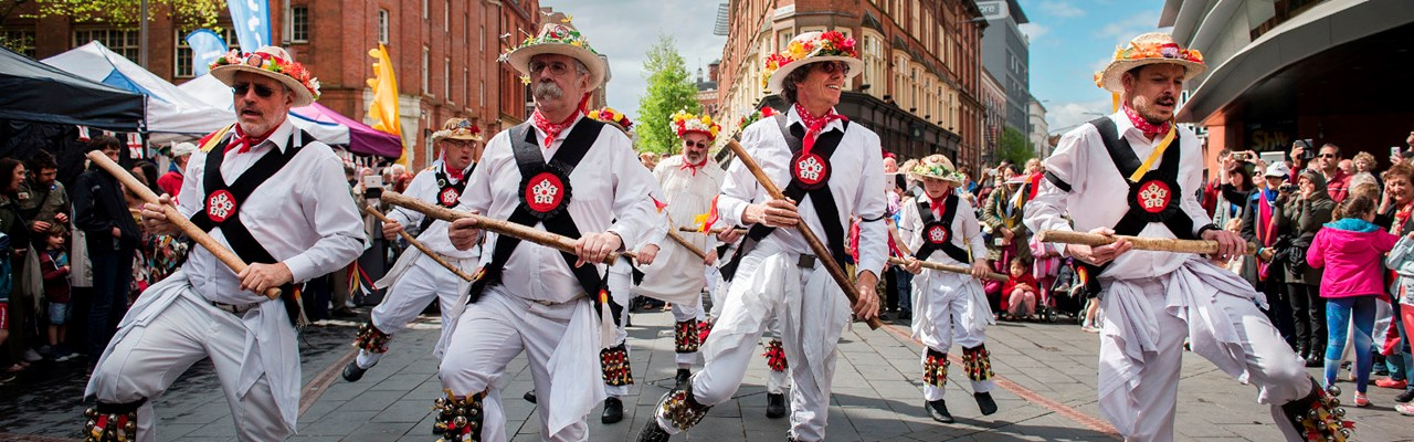 St George's Day morris dancers