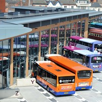 buses parked in bays