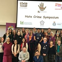 YPC members at a conference on hate crime