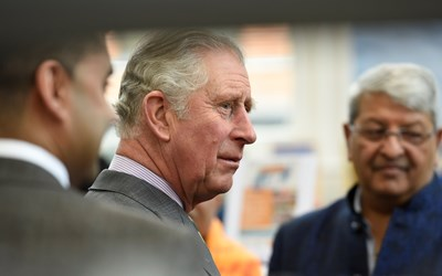 Prince Charles visits Narborough Road in Leicester