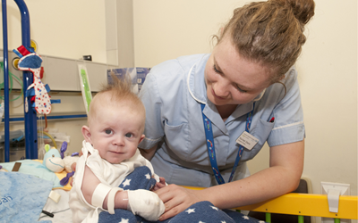 baby at Glenfield heart unit