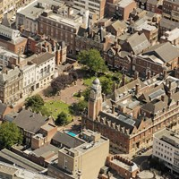 Aerial photo of Leicester Town Hall