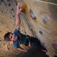 Youth climbing wall