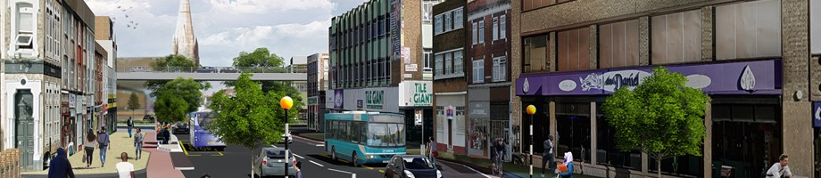 Belgrave Gate south - artist impression