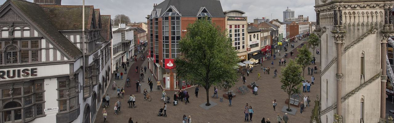 Clock Tower artist impression - connecting Leicester