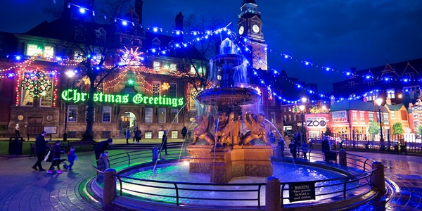 Leicester lights up for Christmas
