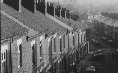 (2001) Housing, Clarendon Park black and white