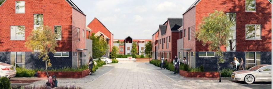 Keepmoat houses at the waterside